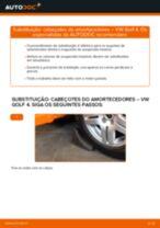 Como mudar cabeçotes do amortecedores da parte traseira em VW Golf 4 - guia de substituição