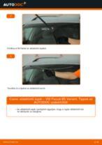 Hogyan cseréje és állítsuk be Kézifék kötél VW PASSAT: pdf útmutató
