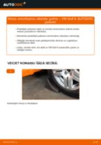 Remonts VW GOLF - problēmu novēršanas pamācības