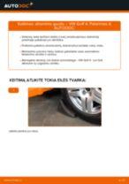 Kaip pakeisti VW Golf 4 atraminio guolio: priekis - keitimo instrukcija