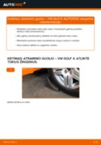 Kaip pakeisti VW Golf 4 atraminio guolio: galas - keitimo instrukcija