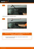 Ako vymeniť predné stierače na VW Passat B5 Variant bensin – návod na výmenu