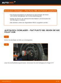 Wie der Wechsel durchführt wird: Domlager 1.2 60 Fiat Punto 188 tauschen