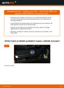 Comment effectuer un remplacement de Tambours De Frein sur 1.2 60 Fiat Punto 188