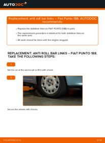 How to carry out replacement: Anti Roll Bar Links on 1.2 60 Fiat Punto 188