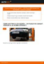 Cseréljünk Olajszűrő VW PASSAT: felhasználói kézikönyv