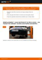 Comment changer : huile moteur et filtre huile sur VW Passat B5 Variant essence - Guide de remplacement
