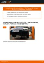 Skifte Oliefilter VW PASSAT: værkstedshåndbog