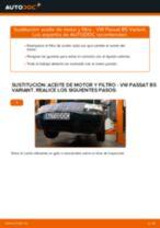 Cómo cambiar y ajustar Filtro aceite VW PASSAT: tutorial pdf