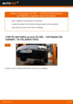Byta motorolja och filter på VW Passat B5 Variant bensin – utbytesguide