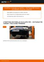 Slik bytter du motorolje og oljefilter på en VW Passat B5 Variant bensin – veiledning