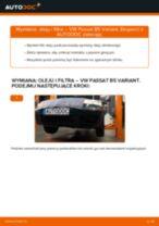 Jak wymienić oleju silnikowego i filtra w VW Passat B5 Variant benzyna - poradnik naprawy