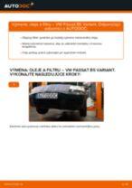 Ako vymeniť motorové oleje a filtre na VW Passat B5 Variant bensin – návod na výmenu