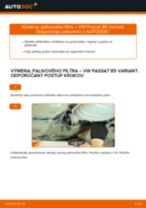 Výmena Palivový filter VW PASSAT: dielenská príručka