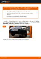 Jak vyměnit motorový olej a olejový filtr na VW Passat B5 Variant benzín – návod k výměně