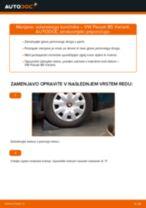 Kako zamenjati avtodel volanski končnik na avtu VW Passat B5 Variant bensin – vodnik menjave