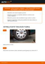 Kaip pakeisti VW Passat B5 Variant benzinas vairo traukės antgalio - keitimo instrukcija