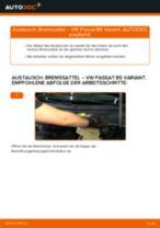 Bremssattel vorne selber wechseln: VW Passat B5 Variant Benzin - Austauschanleitung