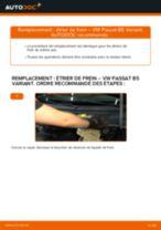 Comment changer : étrier de frein avant sur VW Passat B5 Variant essence - Guide de remplacement