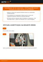 Como mudar kit de suspensão da parte dianteira em VW Passat B5 Variant gasolina - guia de substituição