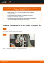 VW Veerpoten achter en vóór veranderen doe het zelf - online handleiding pdf