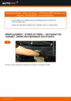 Comment changer : étrier de frein arrière sur VW Passat B5 Variant essence - Guide de remplacement