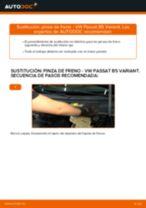 Cómo cambiar: pinza de freno de la parte trasera - VW Passat B5 Variant gasolina | Guía de sustitución