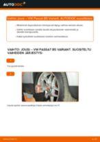 Kuinka vaihtaa ja säätää Kierrejousi VW PASSAT: pdf-opas