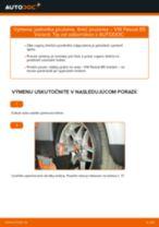 Ako vymeniť predné jednotka prużenia, tlmič prużenia na VW Passat B5 Variant bensin – návod na výmenu