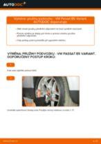 Jak vyměnit přední pružiny podvozku na VW Passat B5 Variant benzín – návod k výměně