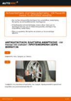 Πώς να αλλάξετε ελατήρια ανάρτησης εμπρός σε VW Passat B5 Variant βενζίνη - Οδηγίες αντικατάστασης