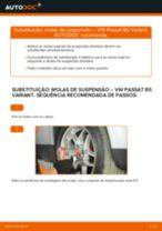 Como mudar molas de suspensão da parte dianteira em VW Passat B5 Variant gasolina - guia de substituição