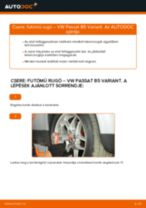 Cseréljünk Kézifék Bowden VW PASSAT: felhasználói kézikönyv