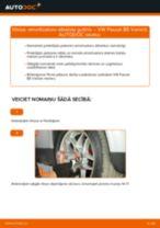 Kā nomainīt: priekšas amortizatoru atbalsta gultņi VW Passat B5 Variant benzīns - nomaiņas ceļvedis