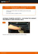 Kaip pakeisti VW Passat B5 Variant benzinas stabdžių suporto: priekis - keitimo instrukcija