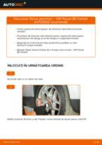 Schimbare Set accesorii, placute frana VW PASSAT: manual de intretinere si reparatii