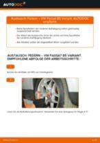 Installation von Stoßdämpfer Feder VW PASSAT Variant (3B6) - Schritt für Schritt Handbuch
