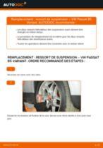 Comment changer : ressort de suspension avant sur VW Passat B5 Variant essence - Guide de remplacement
