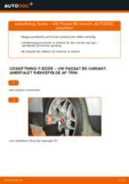 Skifte Fjeder VW PASSAT: værkstedshåndbog