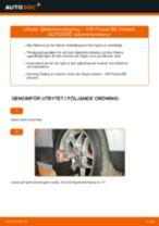 Byta fjäderbenslagring fram på VW Passat B5 Variant bensin – utbytesguide