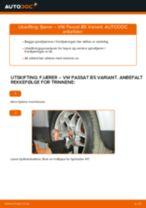 Montering Spiralfjær VW PASSAT Variant (3B6) - steg-for-steg manualer