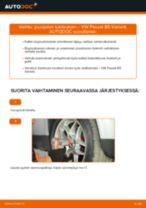 Kuinka vaihtaa ja säätää Ilmansuodatin VW PASSAT: pdf-opas