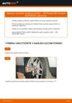 Ako vymeniť predné horné uloženie tlmiča na VW Passat B5 Variant bensin – návod na výmenu