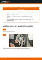 Jak vyměnit přední uložení tlumiče na VW Passat B5 Variant benzín – návod k výměně