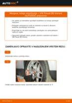Kako zamenjati avtodel ležaj amortizerja spredaj na avtu VW Passat B5 Variant bensin – vodnik menjave