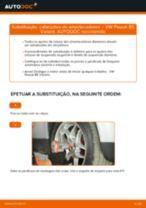 Como mudar cabeçotes do amortecedores da parte dianteira em VW Passat B5 Variant gasolina - guia de substituição