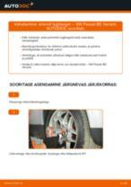 Kuidas vahetada VW Passat B5 Variant bensiin esi-amordi tugilaager – õpetus