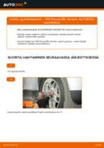 Kuinka vaihtaa ja säätää Pyöränlaakerisarja VW PASSAT: pdf-opas