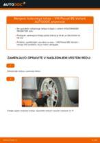 Kako zamenjati avtodel kolesni ležaji spredaj na avtu VW Passat B5 Variant bensin – vodnik menjave