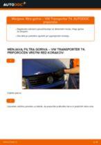PDF priročnik za zamenjavo: Filter goriva VW Transporter IV Minibus (70B, 70C, 7DB, 7DK, 70J, 70K, 7DC, 7DJ) dizel in bencin